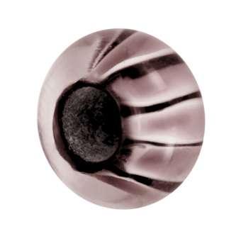 Großlochperle mit Fantasiemuster, 14mm, lila
