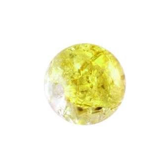 Glasperle in Kristalloptik, 8mm, rund, gelb-transparent gelb-transparent