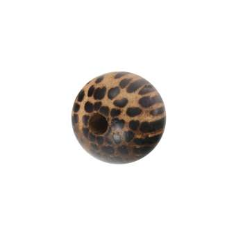 Holzperle, (5 Stück), (Old Palmwood), 5mm, rund, dunkelbraun Old Palmwood, dunkelbraun