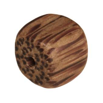 Holzperle (Palmwood), 8mm, Würfel, hellbraun Palmwood, hellbraun