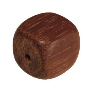 Holzperle (Madre De Cacao), 8mm, Würfel, mittelbraun Madre De Cacao, mittelbraun