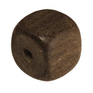 Holzperle (Grey Wood), 8mm, Würfel, walnussbraun Grey Wood, walnussbraun