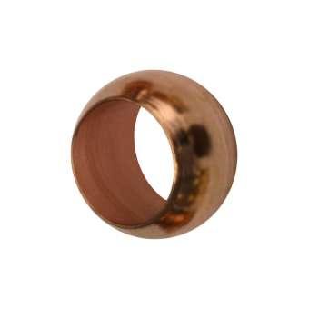 4mm grosse Quetschperlen (25 Stück, Loch-Ø 2,8 mm), Metall, kupferfarben kupferfarben