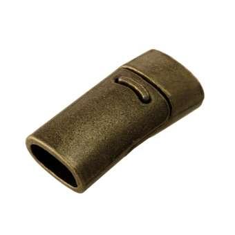 Magnetverschluss, 26X13mm, Loch-Ø 10X5mm (oval), bronzefarben bronzefarben