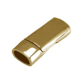 Magnetverschluss, 26X8mm, Loch-Ø 6X3mm (oval), goldfarben