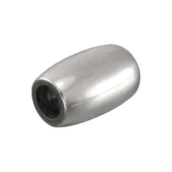 Edelstahlverschluss, 14X9mm, Loch-Ø 5mm, silberfarben Loch-Ø 5mm