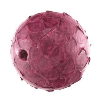 Perle aus Leder, 16mm, rund, pink pink