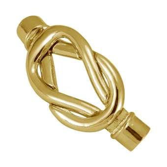 Bügelverschluss, 39X16mm, Loch-Ø 4 mm, Metall, goldfarben