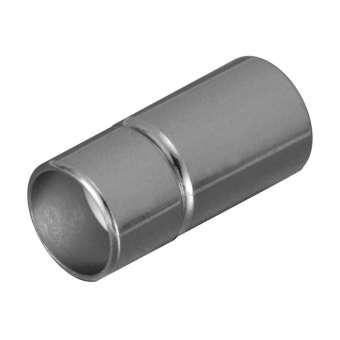 Steckverschluss, 21X9mm, Loch-Ø 8mm, Metall, silberfarben silberfarben, Loch-Ø 8mm