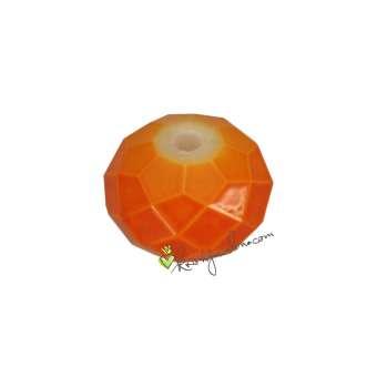Glasschliffperle (emailliert), briolette, 8X6mm, orange orange