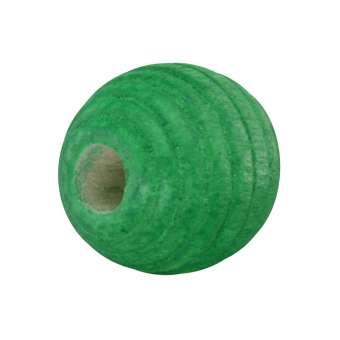 Holzperle, 12mm, rund, grasgrün grasgrün
