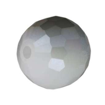 Glasschliffperle, Chessboard, 10mm, weiß auore boreale weiß auore boreale