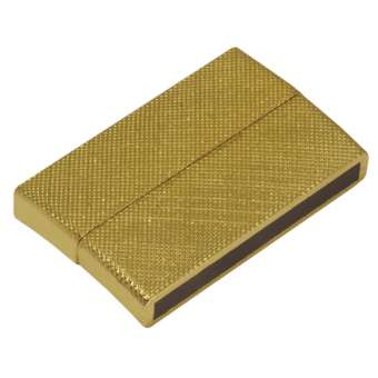 Magnetverschluss, 40X24 mm, Loch-Ø 36X3mm, goldfarben