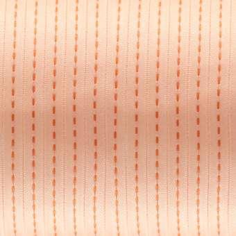 Satinband mit Streifen, 100cm, 6mm breit, rosa-apricot rosa-apricot