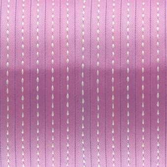Satinband mit Streifen, 100cm, 6mm breit, hellviolett hellviolett