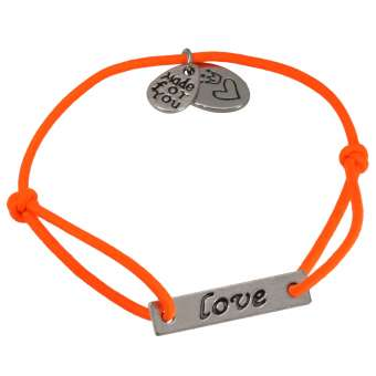 Stretcharmband, neon orange, Designset mit Bastelanleitung neon orange