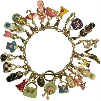"""Bettlerarmband """"shopping queen"""", goldfarben, Designset goldfarben"""