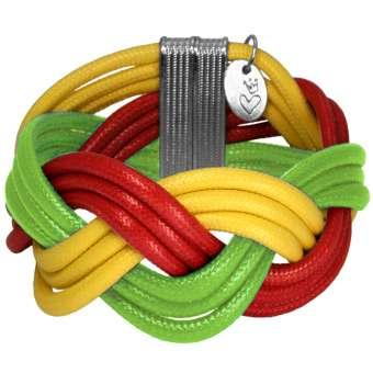 """Geflochtenes Armband """"PORTUGAL"""", Designset mit Bastelanleitung"""