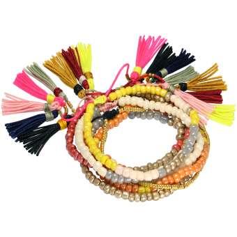 Armbänder aus Rocailles Perlen, Designset mit Bastelanleitung