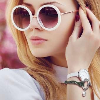 Glasperlen Armband mit Zierring, Designset mit Bastelanleitung
