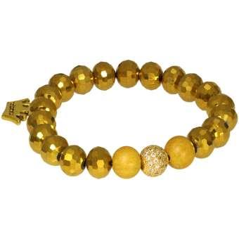 Goldfarbenes Armband, Designset mit Bastelanleitung