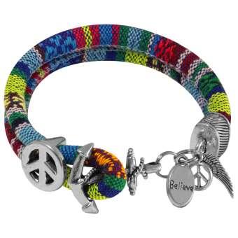 Armband mit Glückssymbolen, Designset mit Bastelanleitung
