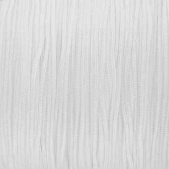 Satinband (100cm), 0,8mm breit, rund, weiß weiß