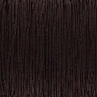 Satinband (100cm), 0,8mm breit, rund, dunkelbraun dunkelbraun