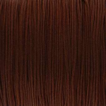 Satinband (100cm), 0,8mm breit, rund, mittelbraun mittelbraun