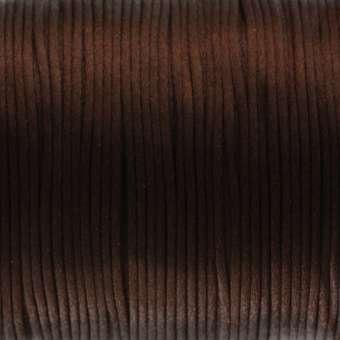 Satinband, 100cm, 2,5mm breit, dunkelbraun dunkelbraun