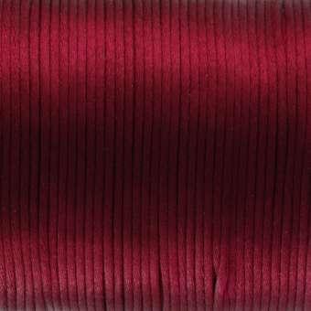 Satinband, 100cm, 2,5mm breit, dunkelrot dunkelrot