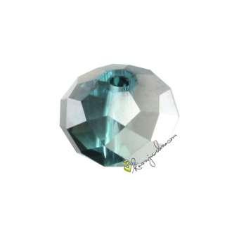 Glasschliffperle, briolette, 8X6mm, verschiedene Farben und Effekte