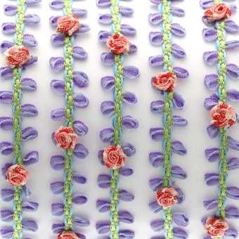 Fantasieband mit Schlaufen, 50cm, 10mm breit, verschiedene Farben