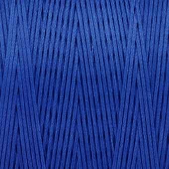 Gewachstes Band in Baumwolloptik (100cm), 1mm X 0,4mm breit, stahlblau bunt