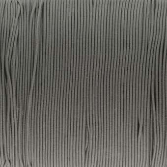 elastisches Band (50cm), 1mm, rund, mittelgrau mittelgrau