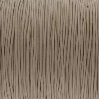 elastisches Band (50cm), 1,5mm, rund, beige hellbraun