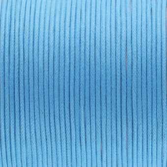 Gewachstes Baumwollband, 100cm, 2mm breit, hellblau hellblau