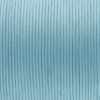 Gewachstes Baumwollband, (100cm), 2mm breit, hell türkis hell türkis