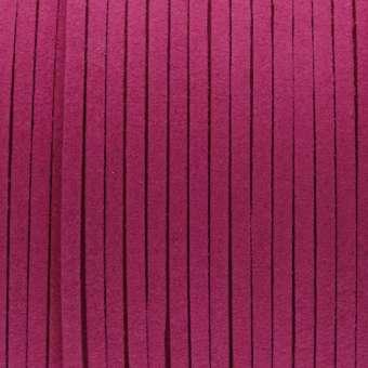 Schmuckband in Wildlederoptik (100cm), 3mm breit, dunkelpink dunkelpink