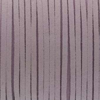 Schmuckband in Wildlederoptik (100cm), 3mm breit, hellviolett hellviolett