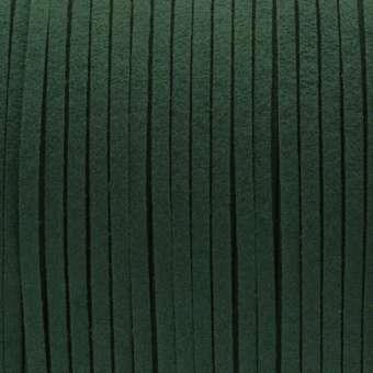 Schmuckband in Wildlederoptik (100cm), 3mm breit, dunkelgrün dunkelgrün