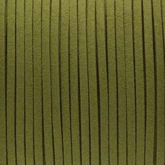 Schmuckband in Wildlederoptik (100cm), 3mm breit, khaki-grün khaki-grün
