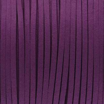 Schmuckband in Wildlederoptik (100cm), 3mm breit, lilafarben lila farben