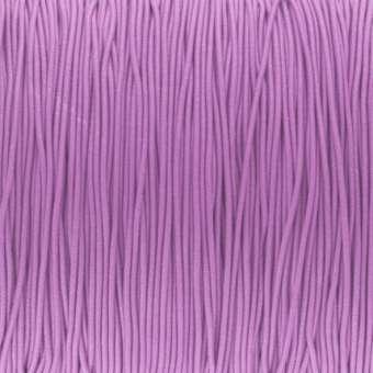elastisches Band (50cm), 1mm, rund, hellviolett hellviolett