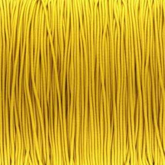 elastisches Band (50cm), 1mm breit, rund, zitronen gelb zitronen gelb