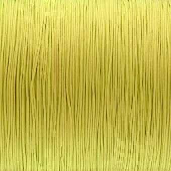 Schmuckband (100 cm), 0,8 mm, rund, gelb gelb