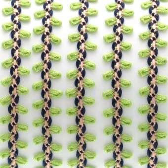 Fantasieband mit Schlaufen, 100cm, 10mm breit, hellgrün (bunt) hellgrün