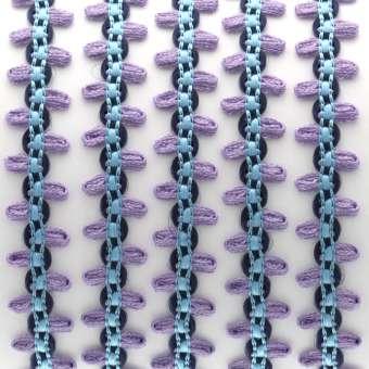 Fantasieband mit Schlaufen, 100cm, 10mm breit, violett (bunt) violett