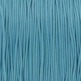 Gewachstes Schmuckband (100cm), 1mm breit, rund, hellblau hellblau