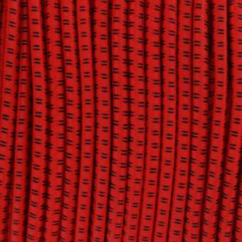 elastisches Band (50cm), 3,2mm breit, rund, rot rot